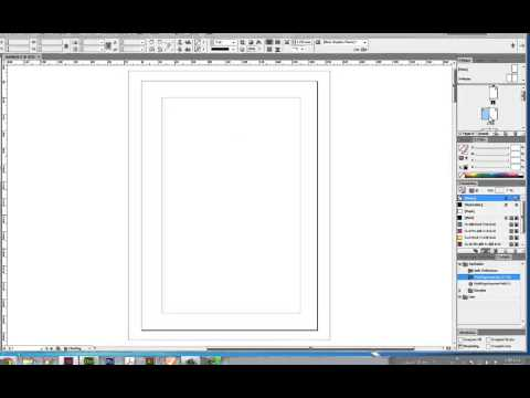 Page set up using Adobe Indesign