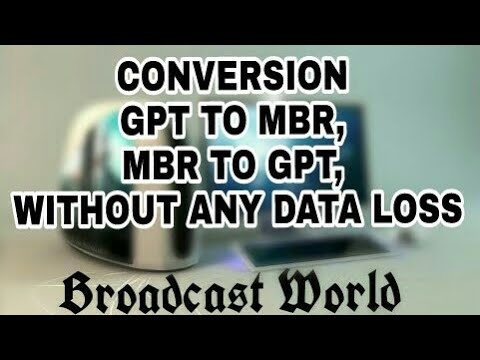 Conversion from GPT to MBR/MBR to GPT. Without data loss (2018) (Hindi)