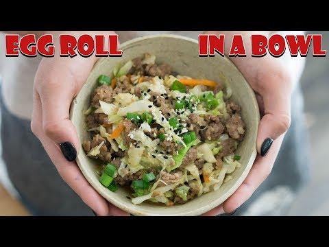 Keto Egg Roll In A Bowl | 1 Pot Dinner!
