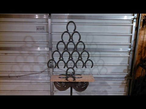 How to make a Christmas Tree from Horse Shoes