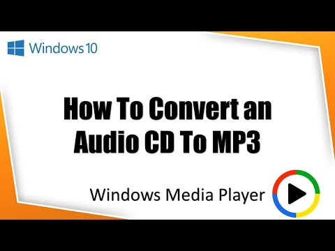 How To Rip Audio CD to MP3 in Windows Media Player | Windows 10 Tutorial