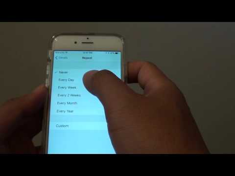 iPhone 6: How to Add a Reminder Alarm
