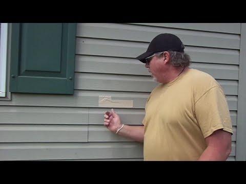 A cheap easy way to repair siding (diy)