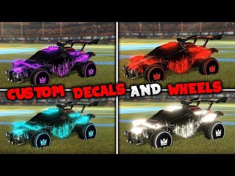*NEW* Custom Textures/Wheels on Rocket League! (Showcase)