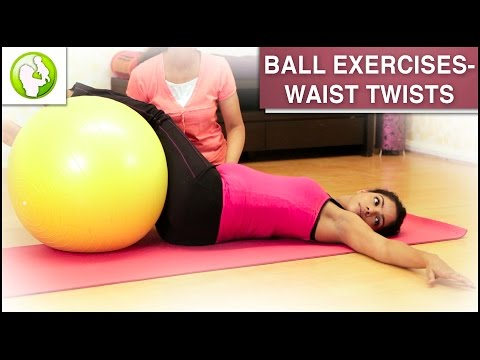 Pregnancy Workout | Ball Exercise For Back Pain
