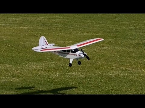 HobbyZone Super Cub S RC Plane Action Video