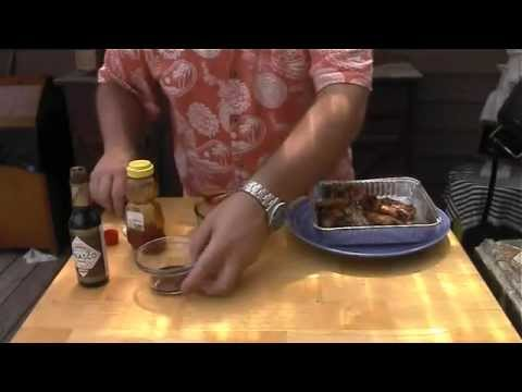 How to grill bbq honey chicken wings