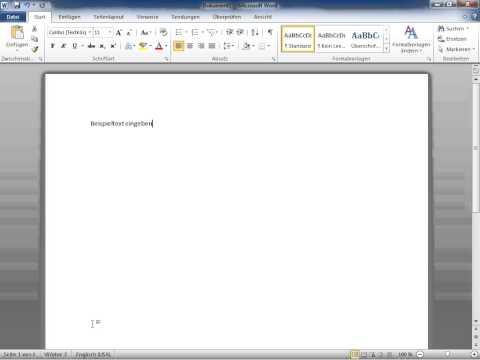 Microsoft Word 2010 Die eingegebenen Wörter zählen