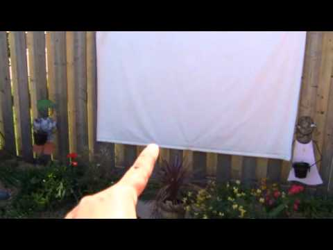 How to build a backyard theater - a cool weekend project