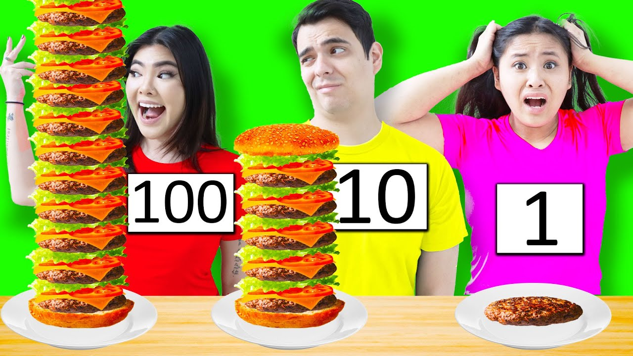 100 LAYERS FOOD CHALLENGE IN 24 HOURS | FUNNY 100 COATS OF THINGS BY CRAFTY HACKS
