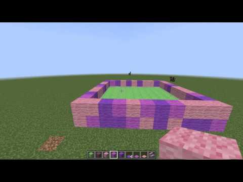 ✔ Minecraft - How to make a Bouncy castle that really works!