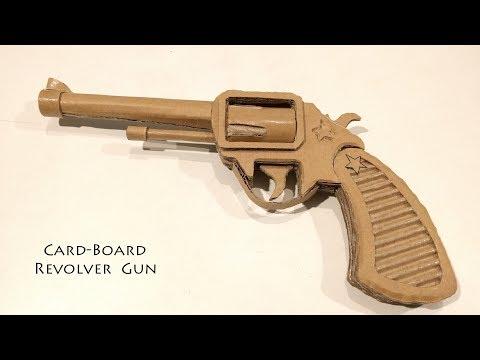 How to Make A Cardboard Gun Revolver : Double action Revolver