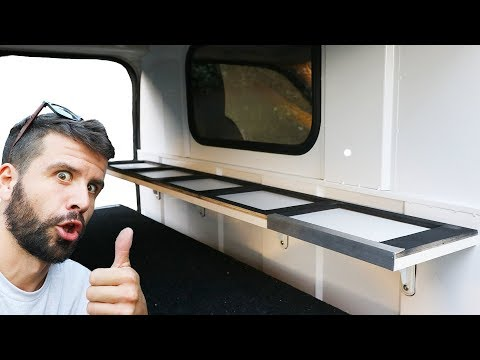 Installing a Shelf in the Van