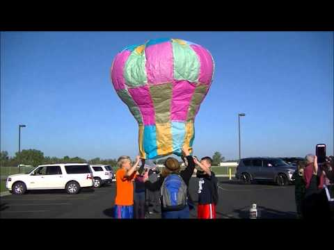 Tissue Hot Air Balloon Lauch #1