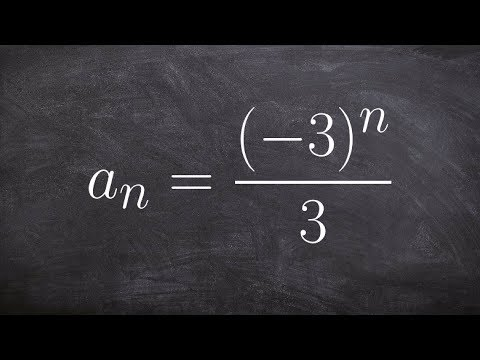 Algebra 2 - Learning to determine the first five terms of a sequence