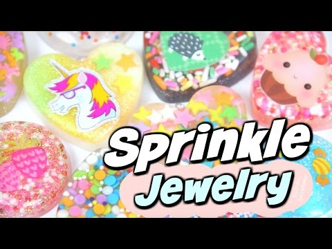 DIY RESIN For Beginners - Sprinkles to Jewelry - Pendant Charm - How To | SoCraftastic