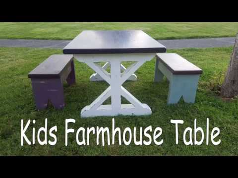 DIY Farmhouse Table & Benches For kids by BCDesign01