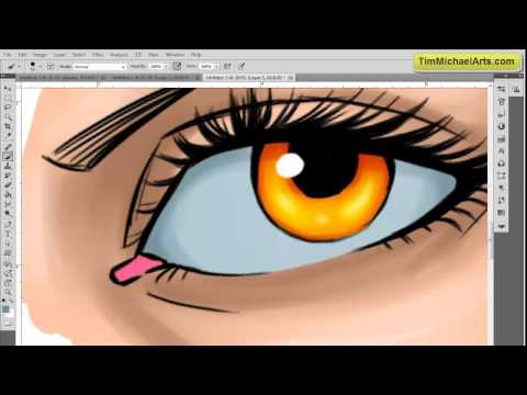 How to paint 3D eyes in Photoshop CS5