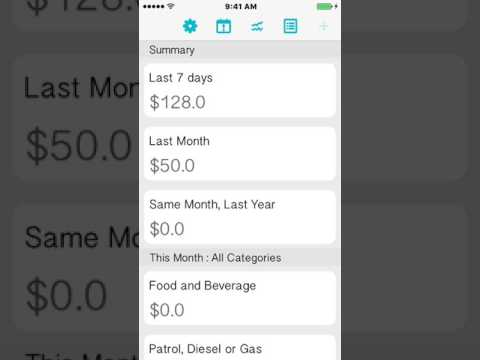 Expense Manager iPhone/iPad Application