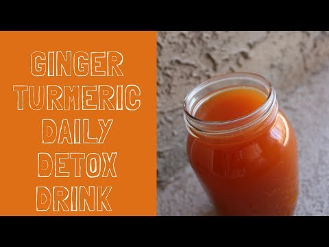 Ginger/Turmeric Detox Drink for Weightloss