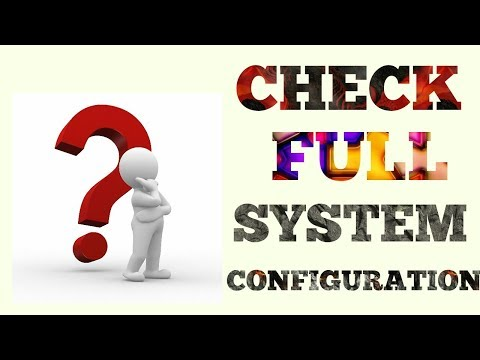 {HINDI} How To Check Full Specification Of Your Laptop & Desktop PC || Hardware Configuration ||