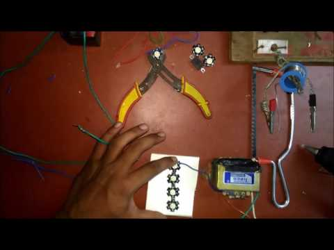 how to make a powerful 12v led flash light at home..