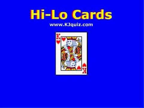 Cardsharks / Play Your Cards Right - HiLo Cards iPod Game www.kjquiz.co.uk