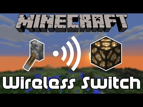 How to Make a Wireless Light Switch in Minecraft