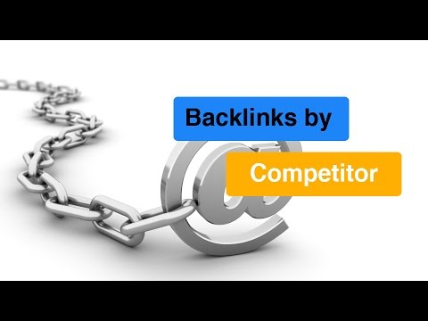 Backlinks by Competitor