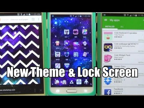 New Phone Theme & Lock Screen | Galaxy S5