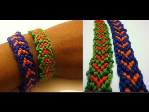 Friendship Bracelet - Heart Pattern Howto DIY Bracelet