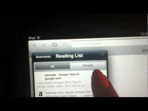How to Delete items from your Ipad READING LIST