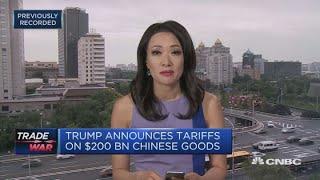 Trump announces slapping 10% tariffs on $200 billion in Chinese goods   Squawk Box Europe