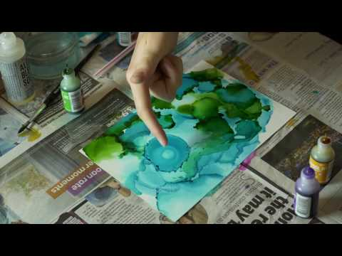 Alcohol Ink Techniques | Inspiration | Reef
