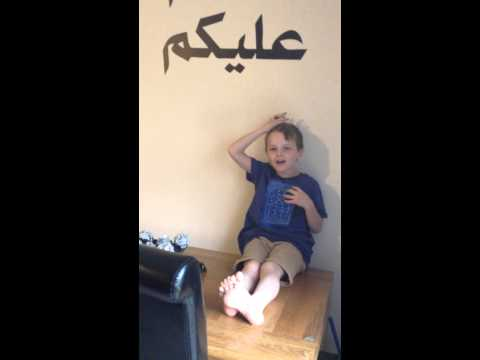 Scottish Kid's Attempt At The Arabic Alphabet wow