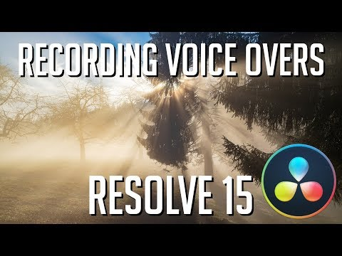 How to Record Voice Overs and Write Script Cues | DaVinci Resolve 15 Tutorial