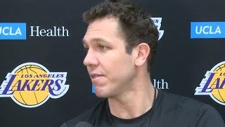 Luke Walton Post-Practice Interview / Feb 22 / 2017-18 NBA Season