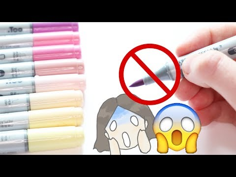 How to NOT use alcohol markers / 5 mistakes alcoholic marker artists make