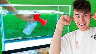 EXPERIMENT: AIRHORN UNDER WATER - Challenge