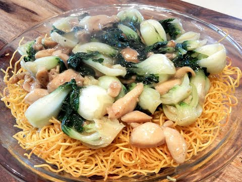S2Ep6-Crispy Pan Fried Noodles with Chicken and Bok Choy 小白菜雞煎麵