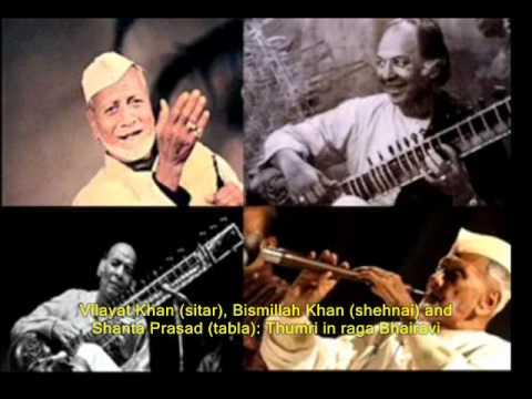 Vilayat Khan, Bismillah Khan, Shanta Prasad--Thumri in Bhairavi 3GP