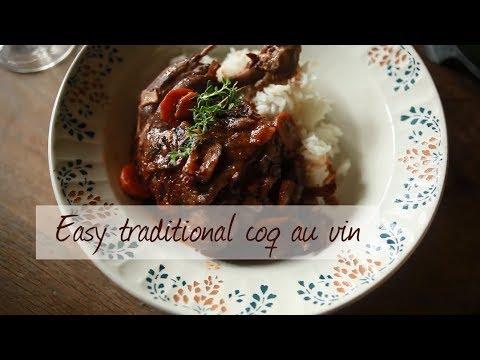 Easy traditional coq au vin recipe video