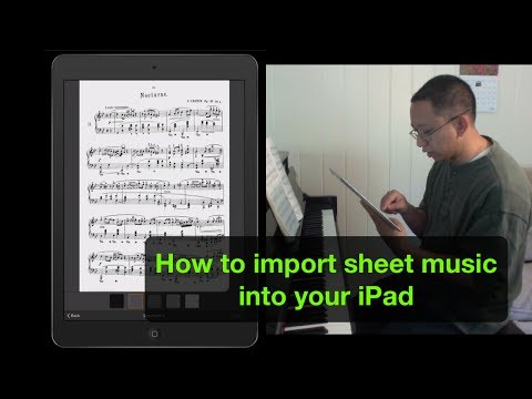 How to Import Sheet Music to Your iPad