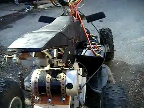 PocketBike mini atv.diy electric 39 kmh pushing 48 volts into a 24 volt motor