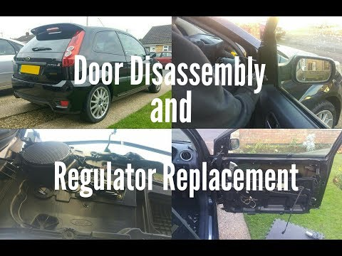 Door Disassembly/Door Panel/Card Removal and Window Regulator Replacement - Ford Fiesta MK6/6.5