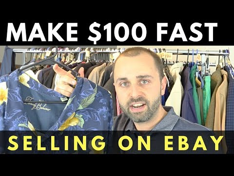 How To Make $100 Fast Selling On Ebay