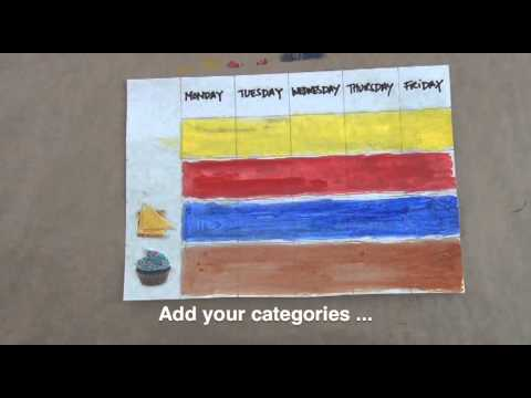 How to make a magnetic lunch chart