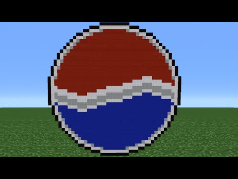 Minecraft Tutorial: How To Make The Pepsi Logo