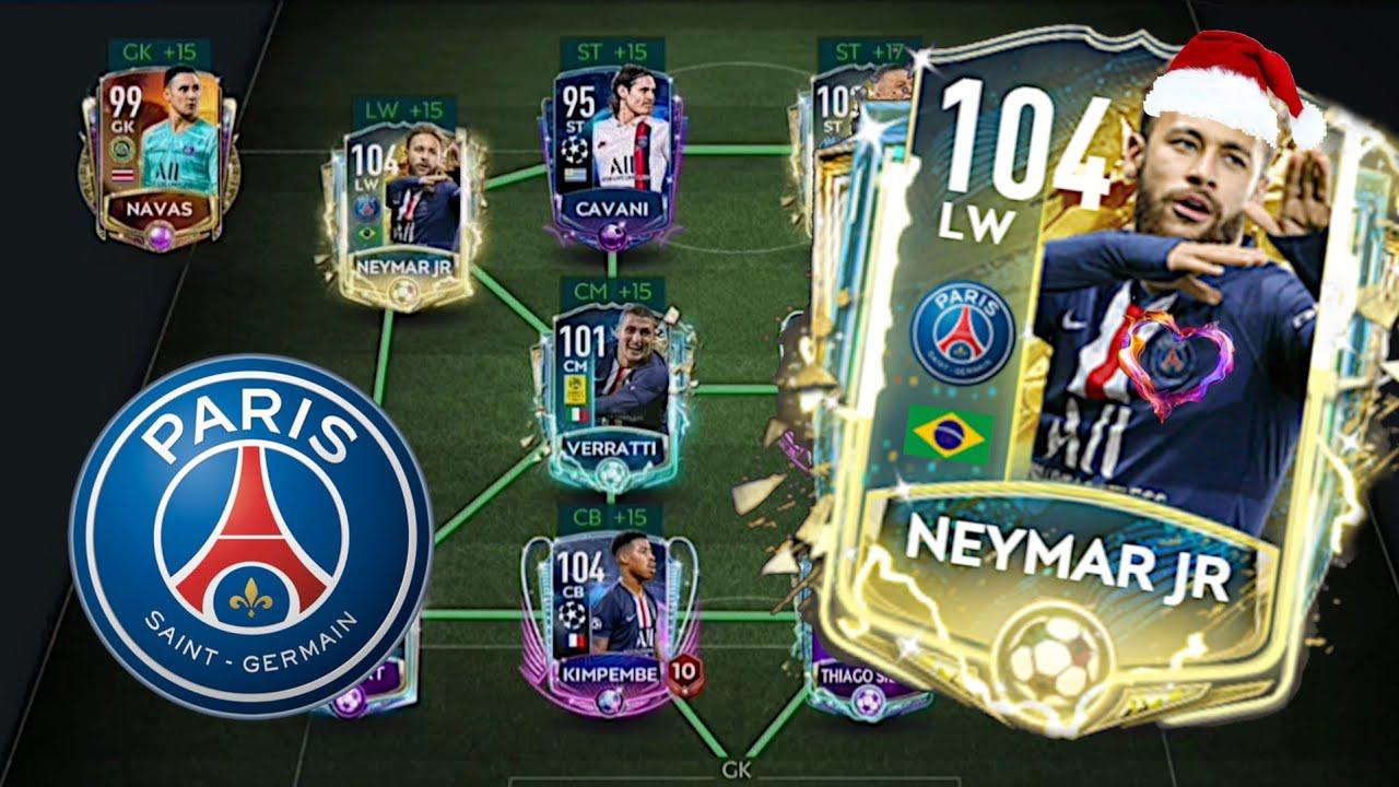 PSG (Paris Saint-Germain) Best Special Squad 2020   Fifa Mobile F2P - Squad Builder Special Version