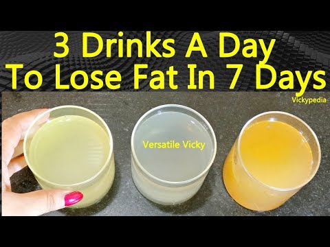 How to Lose Belly Fat in 1 Week | 3 Flat Belly Drinks To Lose Weight Fast - 5Kg | Belly Fat Drink